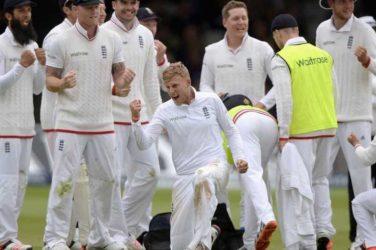 England on 1000th Test