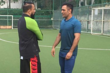 MS Dhoni Takes Time Off Cricket to Play Charity Football