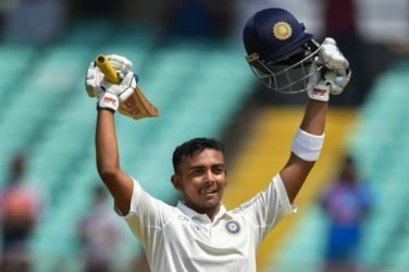 Prithvi Shaw becomes youngest Indian to hit debut Test century