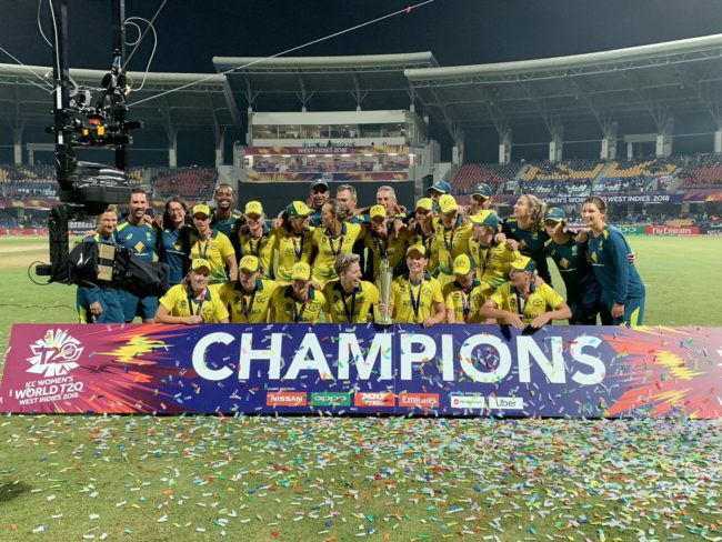 Australia beat England to win Women's World T20 Title