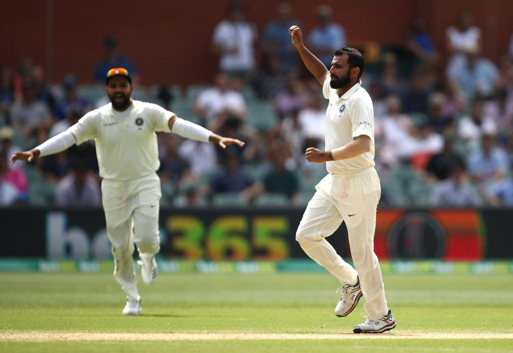 Shami picked up two wickets