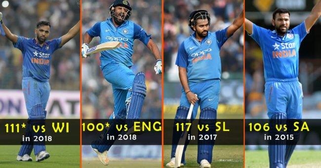 best T20I ton scored by Rohit Sharma