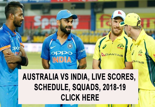 India vs Australia Live Scores, Schedule