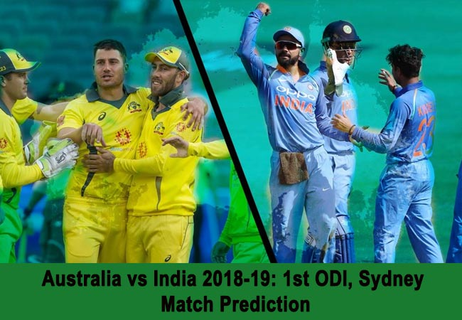 Australia vs India 2018-19: 1st ODI, Sydney – Match Prediction