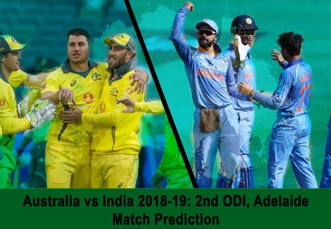 Australia vs India 2018-19: 2nd ODI, Adelaide – Match Prediction