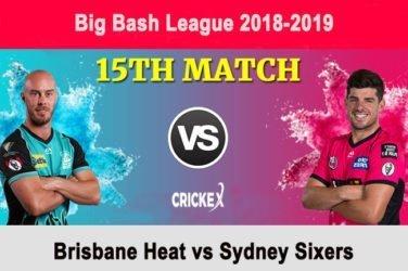 Brisbane Heat vs Sydney Sixers