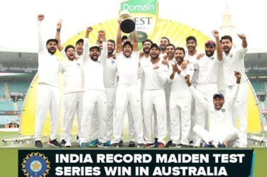 India record Maiden test series win in australia