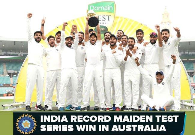 India record Maiden test series win in australia