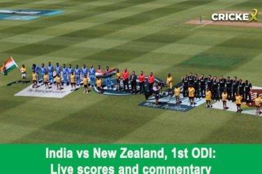India vs New Zealand, 1st ODI: Live scores