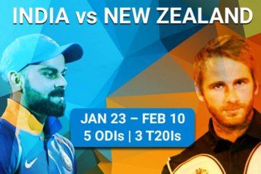 India vs New Zealand 2019