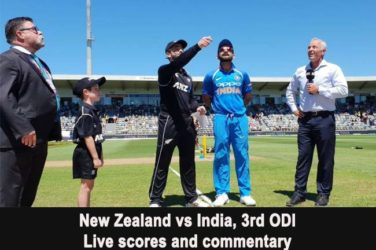 India vs New Zealand, 3rd ODI: Live scores and commentary