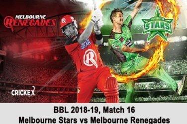 Melbourne Stars vs Melbourne Renegades
