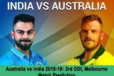 Australia vs India 2018-19: 3rd ODI, Melbourne