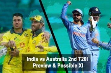 India vs Australia 2nd T20I Preview