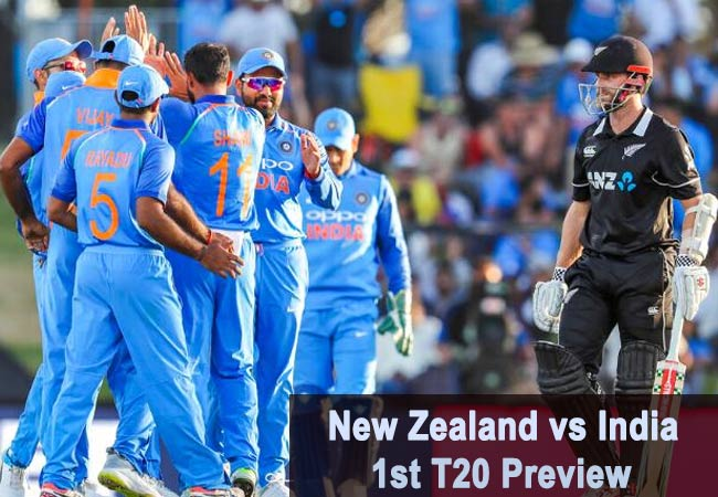New Zealand vs India 1st T20 Preview