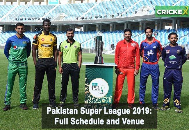 Pakistan Super League 2019: Full schedule