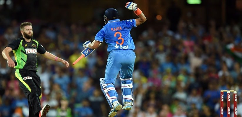 Raina becomes 1st Indian batsman