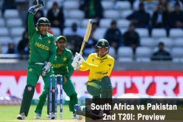 South Africa vs Pakistan 2nd T20I