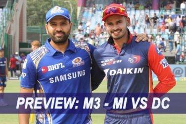 IPL 2019 Match Preview: M3 – MI VS DC