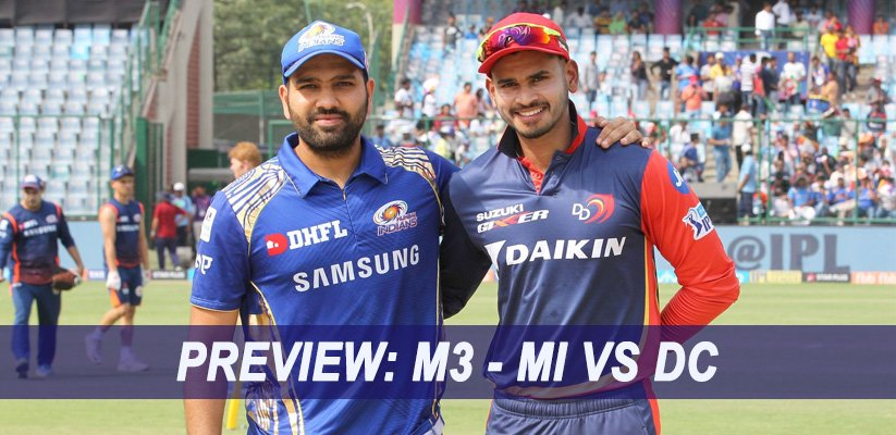 IPL 2019 Match Preview: M3 – MI VS DC