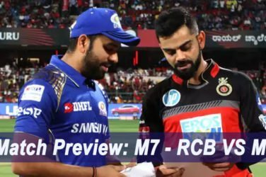 IPL 2019 Match Preview: M7 - RCB VS MI