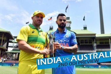 India vs Australia 2nd ODI Preview
