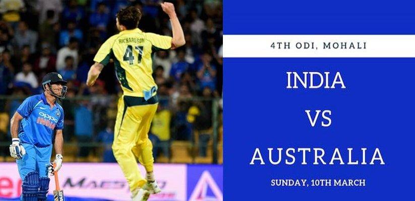 India vs Australia 4rd ODI Preview