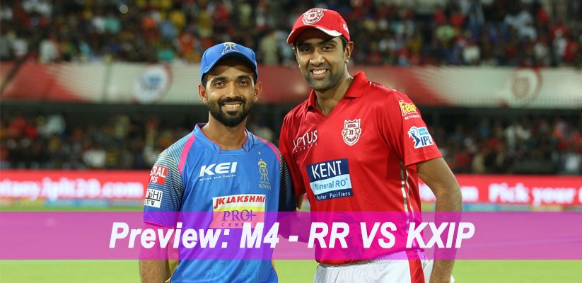 IPL 2019 Match Preview: M4 – RR VS KXIP