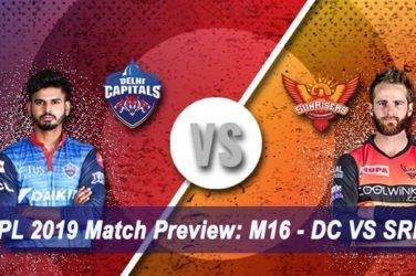 IPL 2019 Match Preview M16 - DC VS SRH