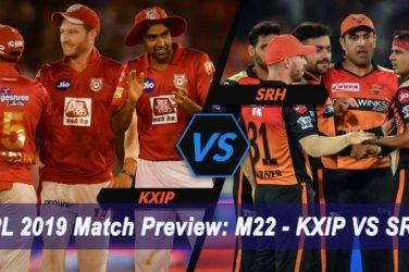 IPL 2019 Match Preview M22 - KXIP VS SRH