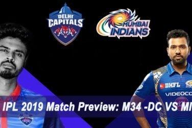 IPL 2019 Match Preview M34 -DC VS MI