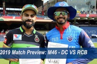 IPL 2019 Match Preview M46 - DC VS RCB