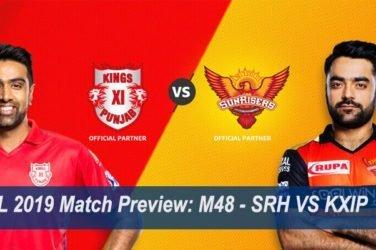 IPL 2019 Match Preview M48 - SRH VS KXIP