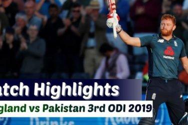England vs Pakistan 3rd ODI Highlights