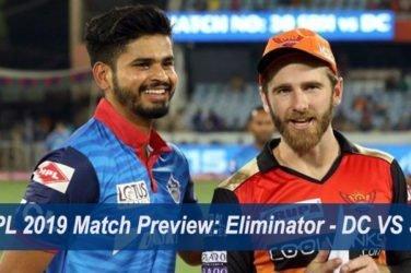 IPL 2019 Match Preview Eliminator - DC VS SRH