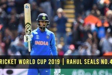 Rahul seals No.4 Spot