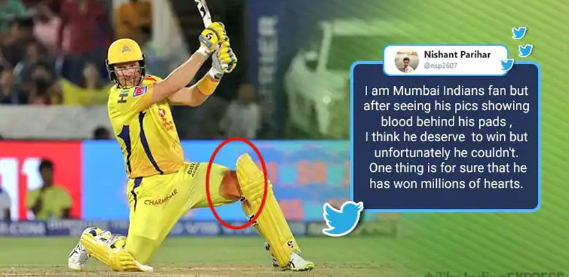 Shane Watson win hearts for playing IPL final with injured knee