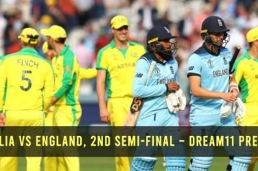 Australia vs England, 2nd Semi-Final