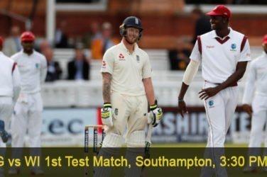 England vs West Indies 1st Test Match