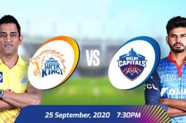 IPL 2020 CSK vs DC Prediction
