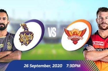 IPL 2020 KKR vs SRH Prediction