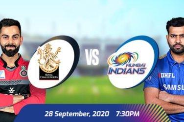 IPL 2020 RCB vs MI Prediction