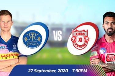 IPL 2020 RR vs KXIP Prediction
