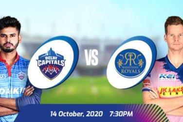 IPL 2020 DC vs RR Prediction