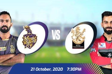 IPL 2020 KKR VS RCB Prediction