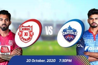 IPL 2020 KXIP VS DC Prediction