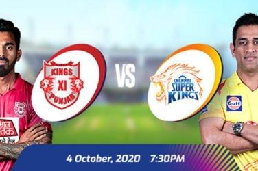 IPL 2020 KXIP vs CSK Prediction