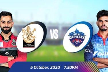 IPL 2020 RCB vs DC Prediction