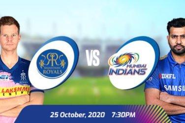 IPL 2020 RR VS MI Prediction
