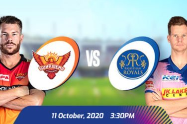 IPL 2020 SRH VS RR Prediction